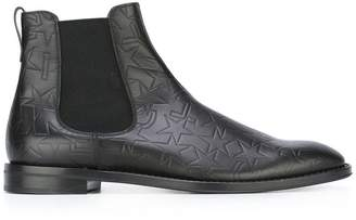 Givenchy logo embossed Chelsea boots