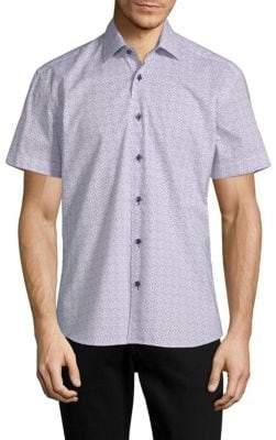 Fishes Cotton Print Shirt