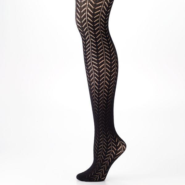 Apt. 9® chevron knit tights