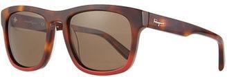 Salvatore Ferragamo Tortoise Plastic Sunglasses $260 thestylecure.com