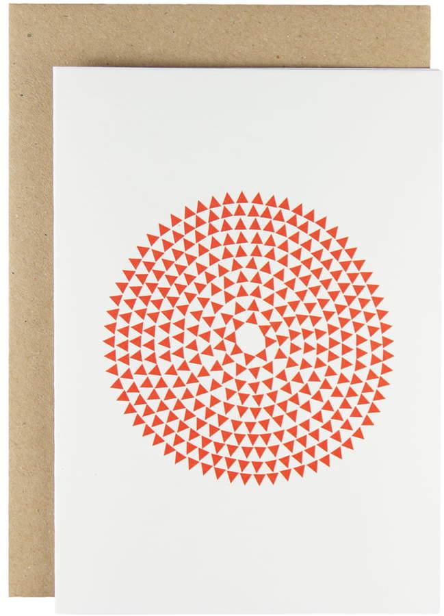 Karte Design Fabrik Karte - Murmurs Grußkarte, red