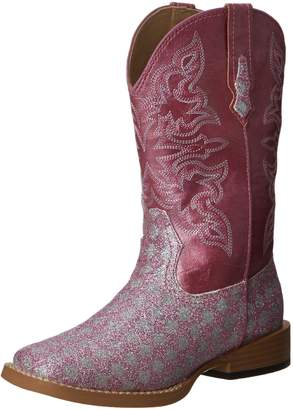 Roper SquareToe Glitter Checkerboard Western Boot (Toddler/Little Kid)