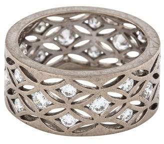 De Beers 18K Diamond Wide Band