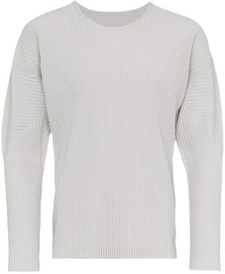 Issey Miyake Homme Plissé ribbed effect jumper