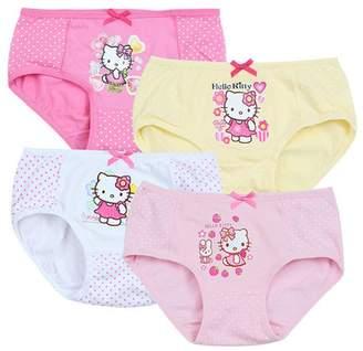 Hello Kitty YUMILY 2-8 Years Old Girls Polka Dot Briefs Panties Character Underwear,3 Pack