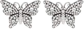 Gucci Crystal butterfly earrings