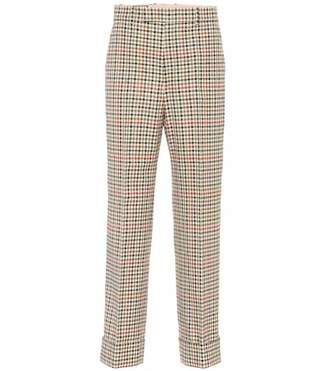 Gucci Checked wool and cotton pants