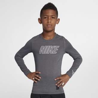 Nike Pro Older Kids'(Boys') Long-Sleeve Training Top