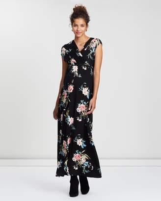 Tropical Wrap Maxi Dress