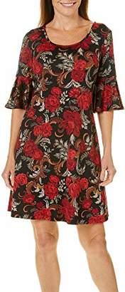 Ronni Nicole Women's Ruffle Sleeve Floral Shift Dress