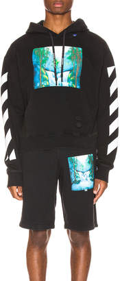 Off-White Off White Diag Waterfall Hoodie in Black Multi | FWRD