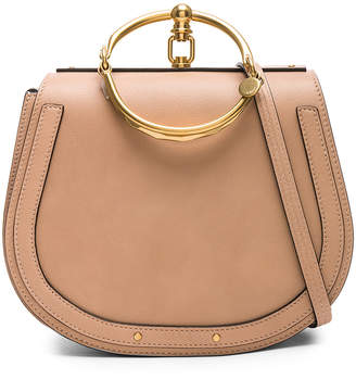 Chloé Medium Nile Calfskin & Suede Bracelet Bag