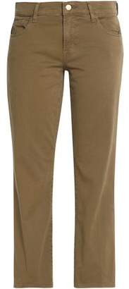 J Brand Brushed Cotton-Blend Flare Pants