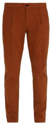 Altea - Mid Rise Slim Leg Trousers - Mens - Tan