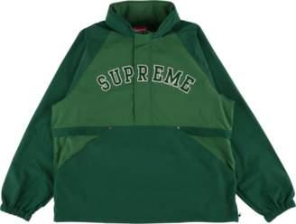 Supreme Court Half Zip Pullover - 'SS 18' - Dark Green