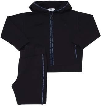 Versace Logo Trim Cotton Sweatshirt & Sweatpants