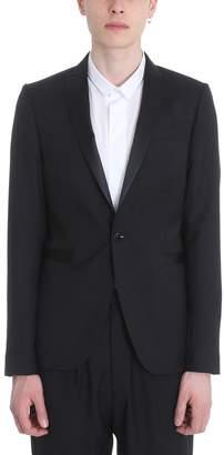 Sartorial Monk Black Cotton Blazer