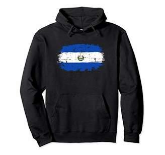 El Salvador Flag Hoodie Distressed Bandera Vintage