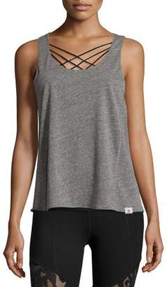 Vimmia Pacific Tie-Back Athletic Tank, Light Heather Gray $58 thestylecure.com