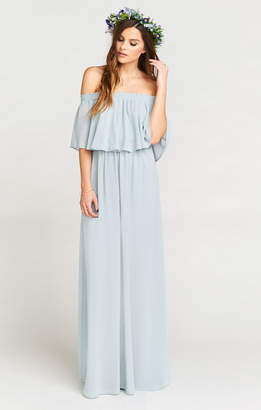 Show Me Your Mumu Hacienda Maxi Dress ~ Steel Blue Chiffon
