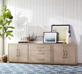 Pottery Barn Danielle Double Two Door Cabinet Home Office Suite