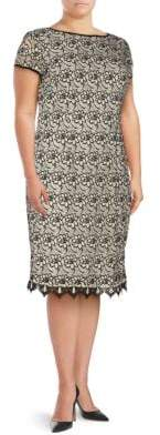 Adrianna Papell Plus Floral Lace Sheath Dress