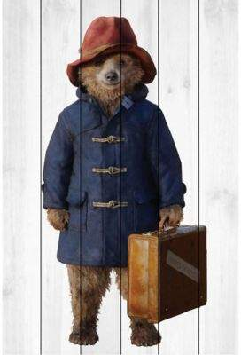 Marmont Hill Paddington Bear Ready to Go 16-Inch x 24-Inch Pallet Wood Wall Art