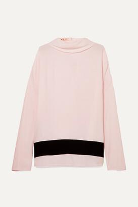 Marni Striped Crepe De Chine Blouse - Pastel pink
