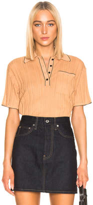 Acne Studios Karina Knit Top in Wheat Beige | FWRD