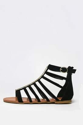 Bamboo Flat Gladiator Sandal $23 thestylecure.com