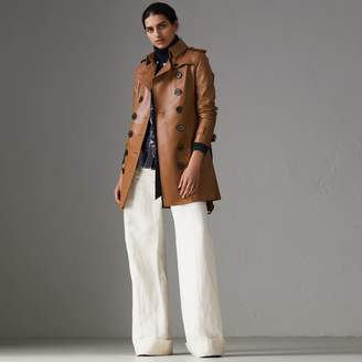 Burberry Sandringham Fit Lambskin Trench Coat , Size: 02