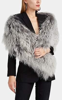 Barneys New York Women's Lamb Fur Shrug - Gray