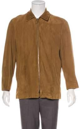 Ralph Lauren Purple Label Suede Zip Jacket