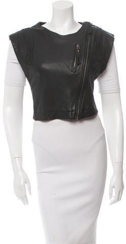 IROIro Zip-Accented Cropped Leather Vest