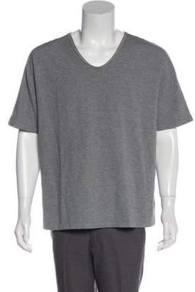 3.1 Phillip Lim Silk-Trimmed Scoop Neck T-Shirt