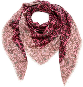 Loewe Floral-Print Modal And Cashmere-Blend Scarf