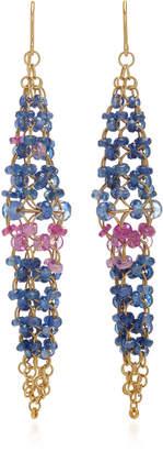 Mallary Marks Spire 18K Gold Sapphire Earrings