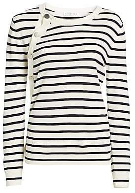 Altuzarra Women's Stripe-Knit Button Sweater