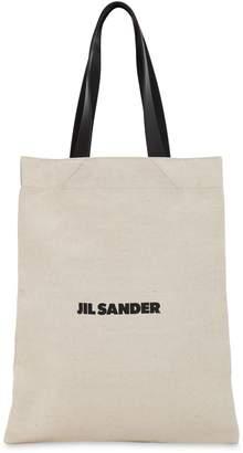 Jil Sander (ジル サンダー) - JIL SANDER スモール フラットキャンバストートバッグ