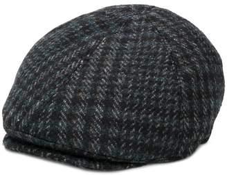 Corneliani checked flat cap