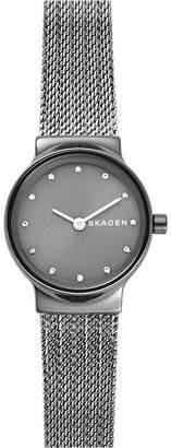 Skagen Women's Freja Gray Stainless Steel Mesh Bracelet Watch 26mm
