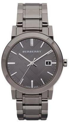 Burberry Sunray Check Watch, Light Gray $695 thestylecure.com