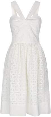 Moschino Sleeveless Sweetheart Lace Dress