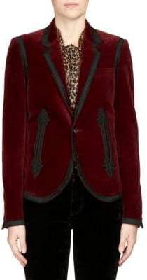 Saint Laurent Ribbon Trim Blazer