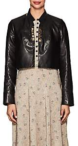 Mayle Maison MAISON WOMEN'S YVES COLLARLESS LEATHER JACKET