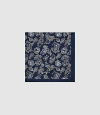 Austin - Silk Pocket Square in Blue