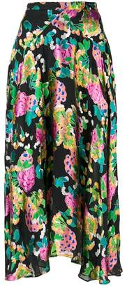 Saloni floral print midi skirt