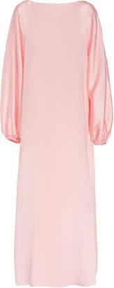 ADAM by Adam Lippes Blouson Sleeve Boatneck Silk Dress