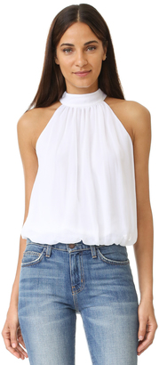 alice + olivia Maris Gathered Halter Top $198 thestylecure.com