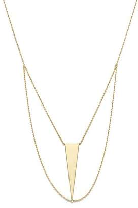 """Bloomingdale's 14K Yellow Gold Triangle Chain Bib Necklace, 18"""" - 100% Exclusive"""